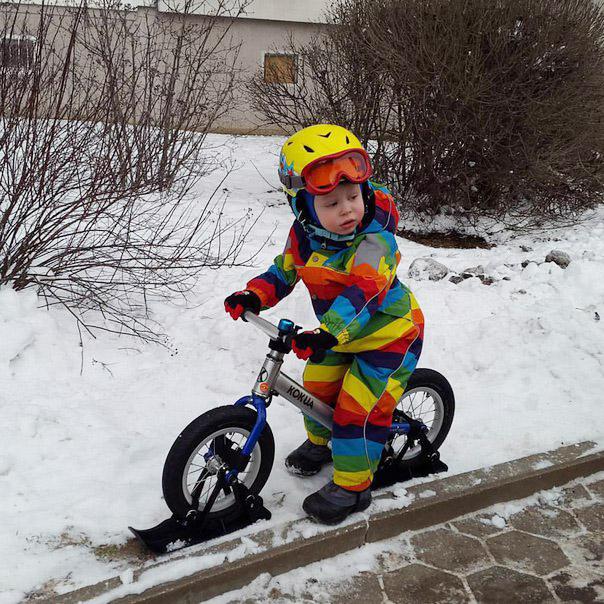 Лыжи Strider на дорогах Минска
