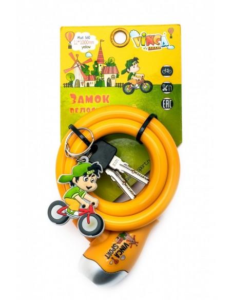 Велозамок Vinca тросовый с брелком